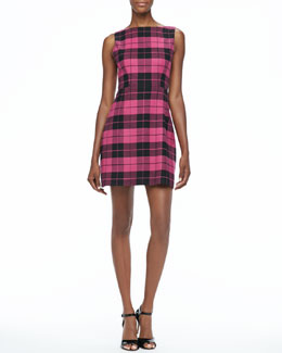 Alice + Olivia Jolie Plaid A-Line Dress