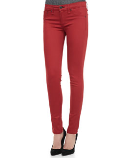 rag & bone/JEAN The Legging Jeans, Red Sateen