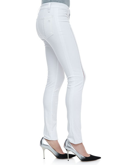 Split Separating Stitch Leggings, Bright White