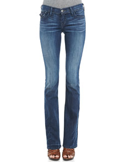 True Religion Becky Midnight Fog Boot-Cut Jeans