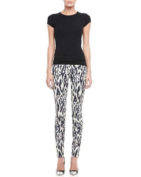 Ikat-Print Skinny Pants