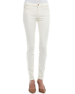 7 For All Mankind Brushed Satin Skinny Pants