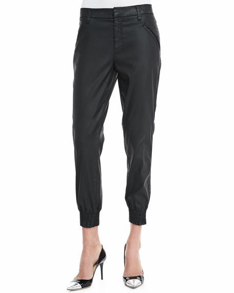 Coated Twill Jogging Pants