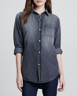 Current/Elliott Prep School Faded Denim Shirt
