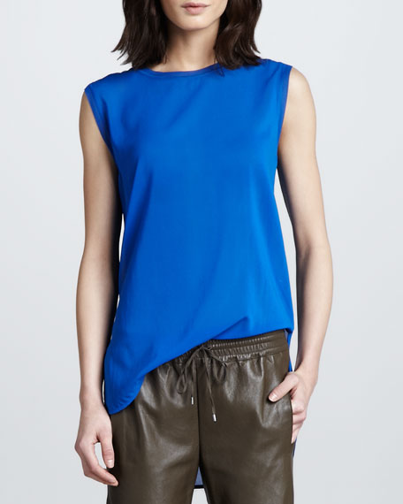Mix-Fabric Loose Tank