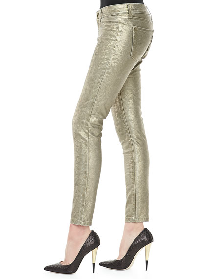 Emma Brocade Legging Jeans, Glimmer
