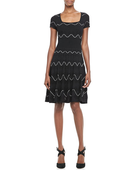 Cassidy Pointelle Zigzag Dress