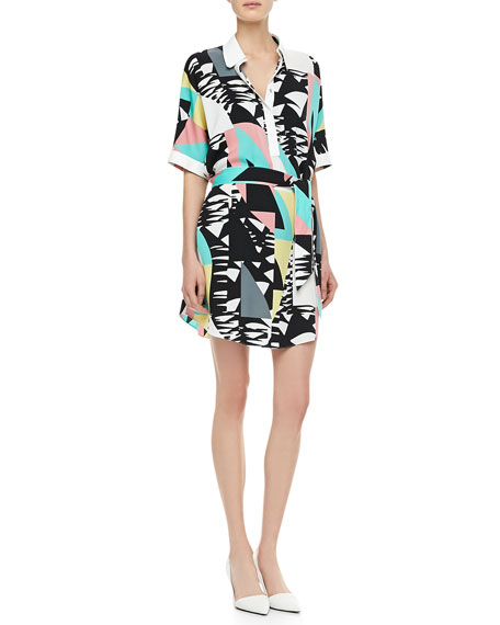 Constance Printed Tie-Waist Dress