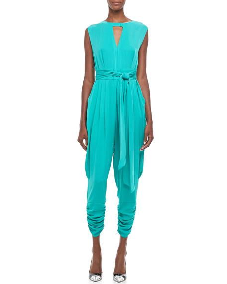 Carrie Cap-Sleeve Jumpsuit