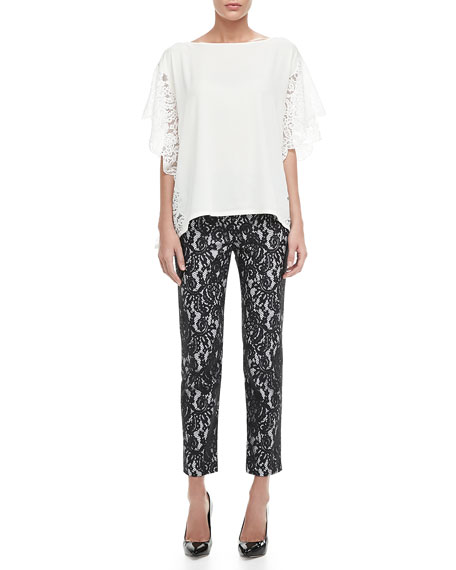 Christy Cropped Lace Pants