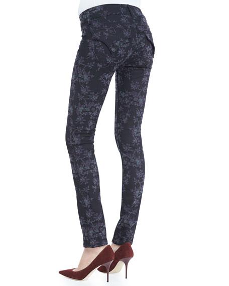 Collin Belgrave Floral-Print Skinny Jeans