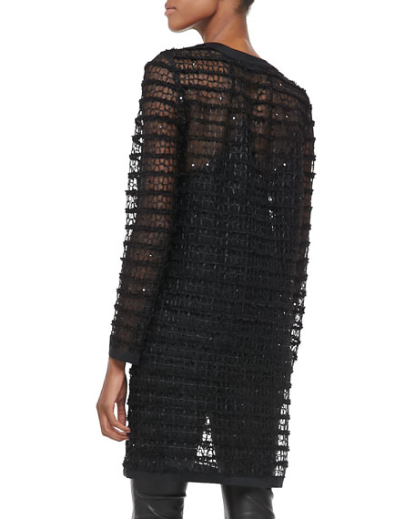 Long Sheer Lace Jacket