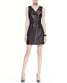 Rebecca Minkoff Leather/Ponte Moto Dress
