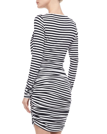 Lori Ruched Striped Dress