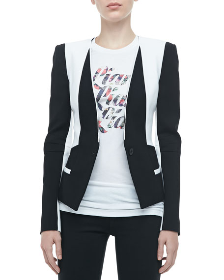 Victor Two-Tone Crepe Jacket