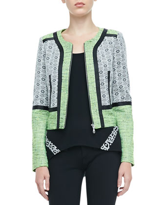 Payton Mix-Fabric Jacket