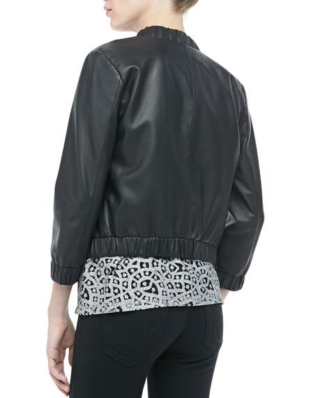 Royce Leather Bomber Jacket