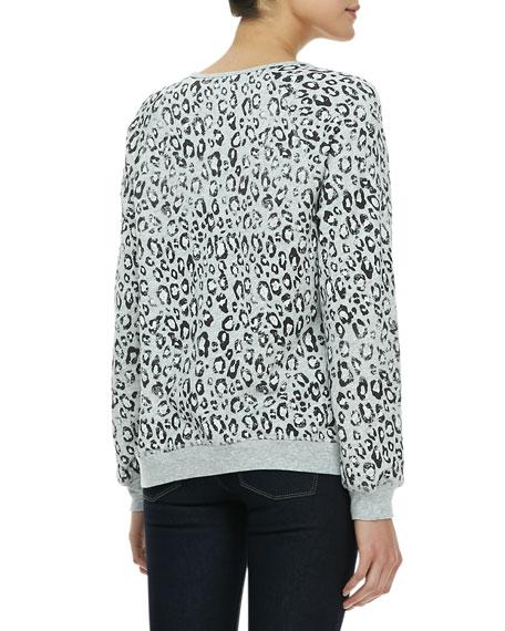 Annora Leopard-Print Sweatshirt