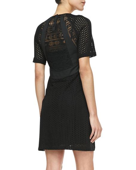 Nomad Lace-Overlay Dress, Black