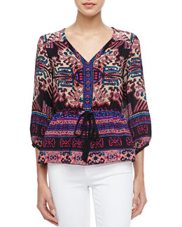 Nanette Lepore Seaside Printed Drawstring Top