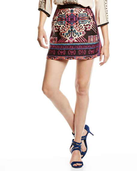 Ritual Embroidered Short Skirt