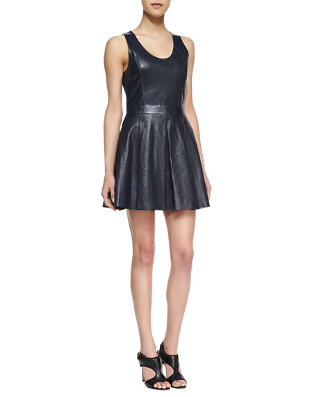 Liv Perforated Leather Dress