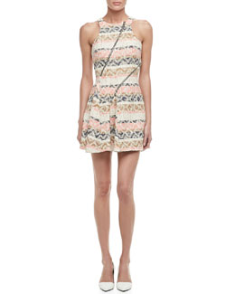 Rebecca Minkoff Glamrock Tweed Zipper Dress