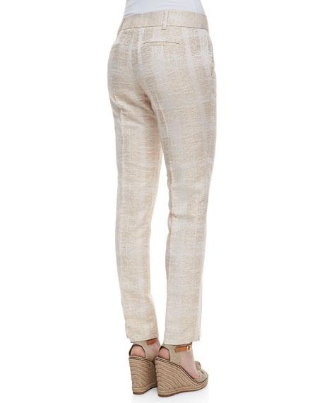 Harp Textured Straight-Leg Pants