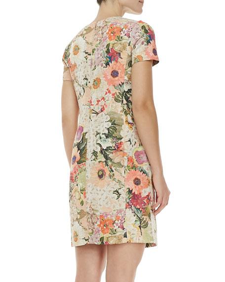 Kaley Floral Tweed Dress