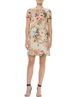 Tory Burch Kaley Floral Tweed Dress
