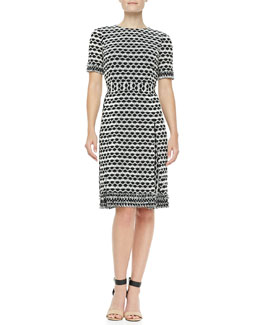 Tory Burch Paulina Lacey Dotted Dress