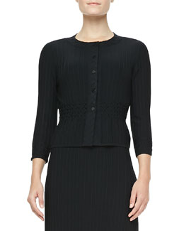 Tory Burch Klara Textured Knit Cardigan