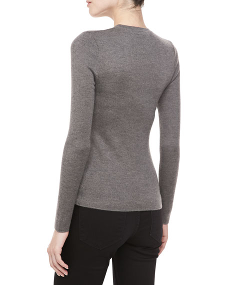 Long-Sleeve Cashmere Sweater, Banker