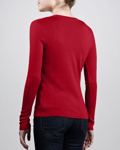 Classic Cashmere Cardigan, Crimson