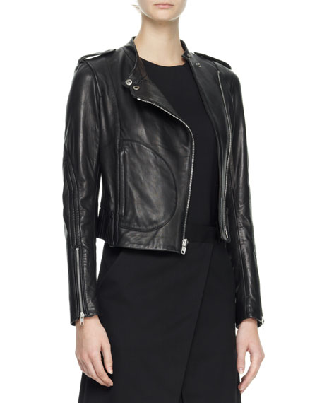 Katiana Cropped Leather Jacket