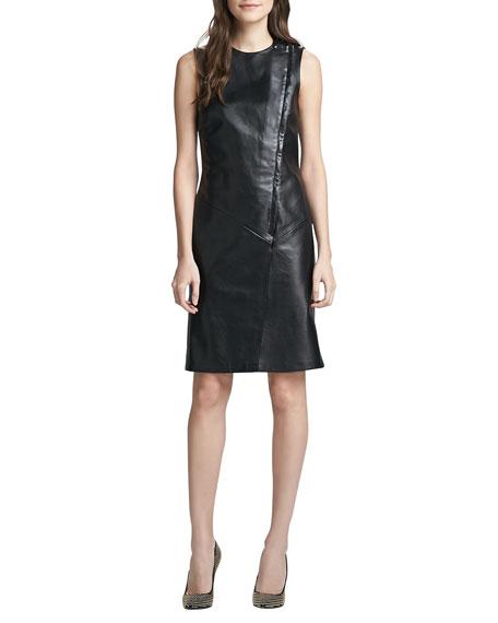 Kuval Sleeveless Leather Dress