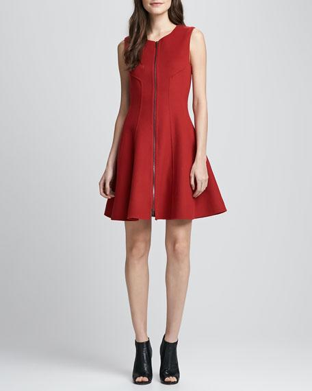 Bonbi Front-Zip Flared Dress