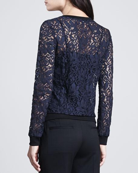 Jaidyn Sheer Lace Sweater