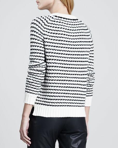 Innis B Striped Knit Sweater