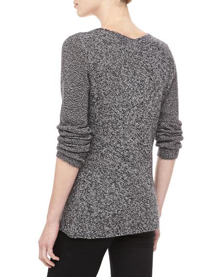 Marled Cashmere Sweater, Ivory