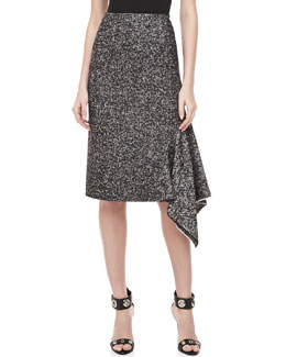 Michael Kors Herrinbone Assymetric Skirt
