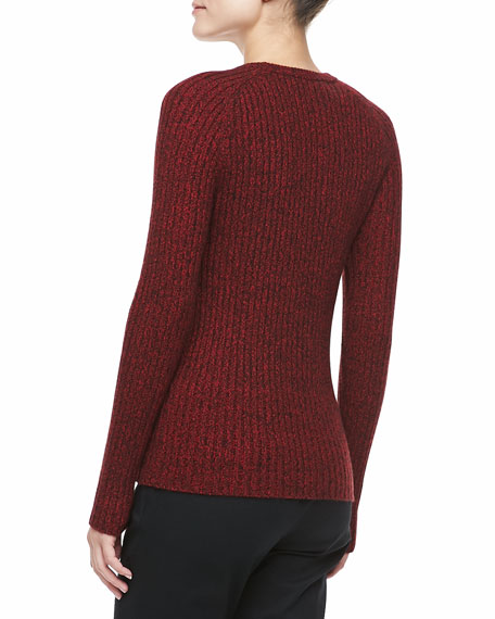 Cashmere Marble Long-Sleeve Sweater