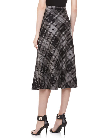 Fairfax Plaid A-line Skirt, Banker
