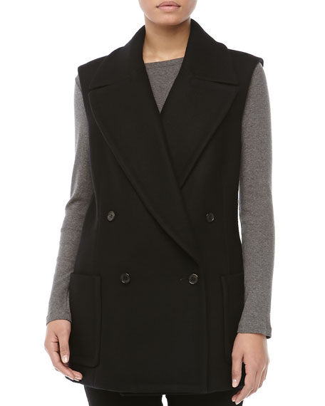 Wool Melton Double-Breasted Vest