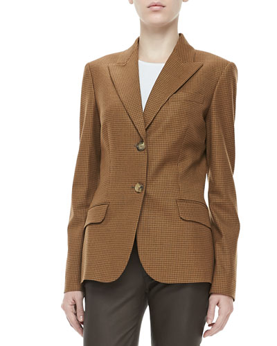 Michael Kors Check Two-Button Jacket