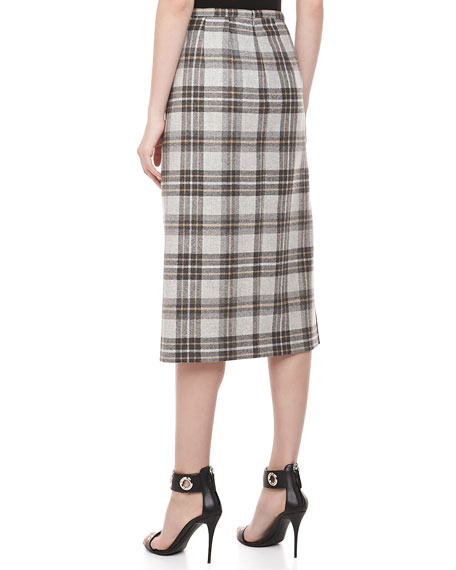 Dorset Plaid Wool Skirt
