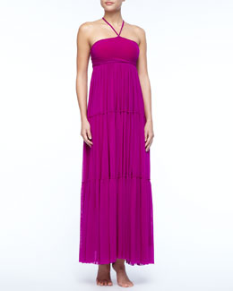 Jean Paul Gaultier Tiered Jersey Maxi Dress