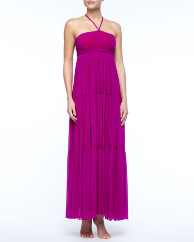 Jean Paul Gaultier Tiered Jersey Maxi Dress