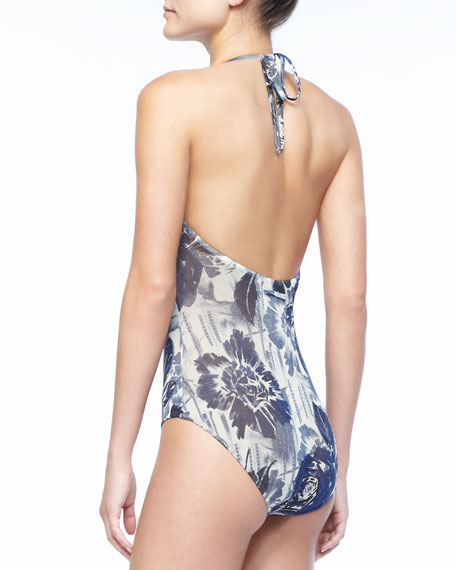 Floral-Print One-Piece