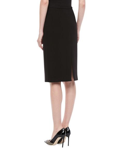 Wool-Stretch Pencil Skirt